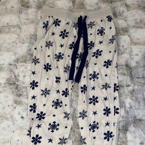 snowflake arie pajama pants